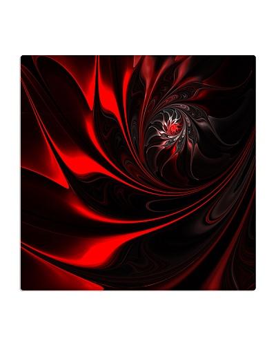 Red Spiral Fractal Art
