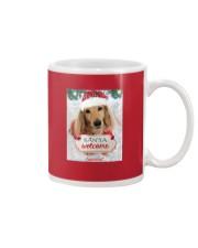 Lancelot the Chivalrous Dachshund Christmas Mug Mug front