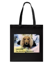 Lancelot The Chivalrous Dachshund  Tote Bag front