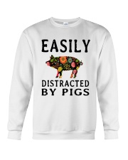 EASILY DISTRACTED BY PIGS Crewneck Sweatshirt thumbnail