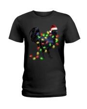 CHICKEN LIGHT TREE Ladies T-Shirt thumbnail