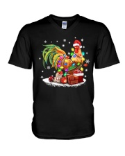 CHRISTMAS BULB CHICKEN V-Neck T-Shirt thumbnail