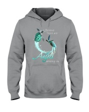 I BELIEVE TURTLES ARE ANGELS AMONG US Hooded Sweatshirt thumbnail