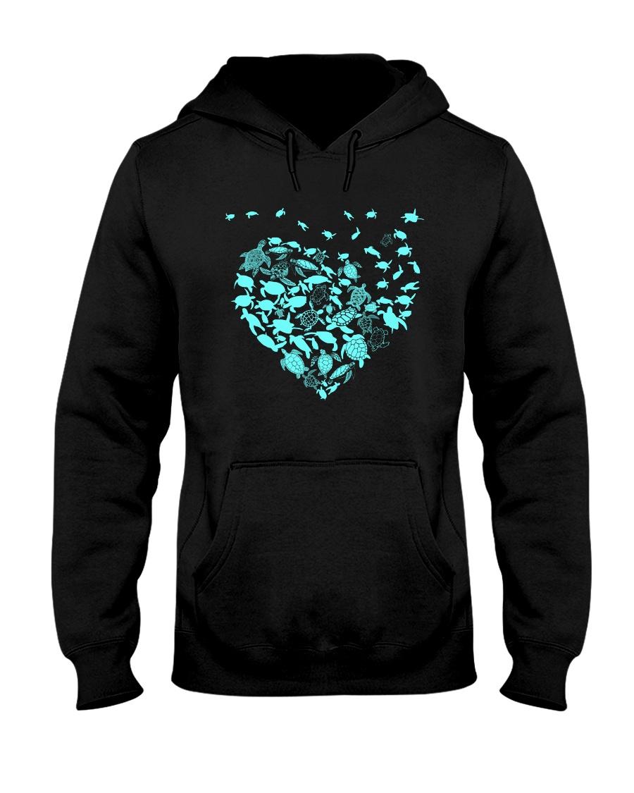 TURTLE HEARTS Hooded Sweatshirt
