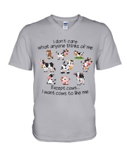 I WANT COWS TO LIKE ME V-Neck T-Shirt thumbnail