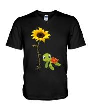 YOU ARE MY SUNSHINE - TURTLE V-Neck T-Shirt thumbnail