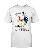 I'M JUST A GIRL WHO LOVES CHICKENS Classic T-Shirt thumbnail