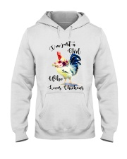 I'M JUST A GIRL WHO LOVES CHICKENS Hooded Sweatshirt thumbnail