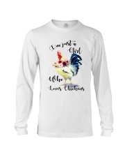 I'M JUST A GIRL WHO LOVES CHICKENS Long Sleeve Tee thumbnail
