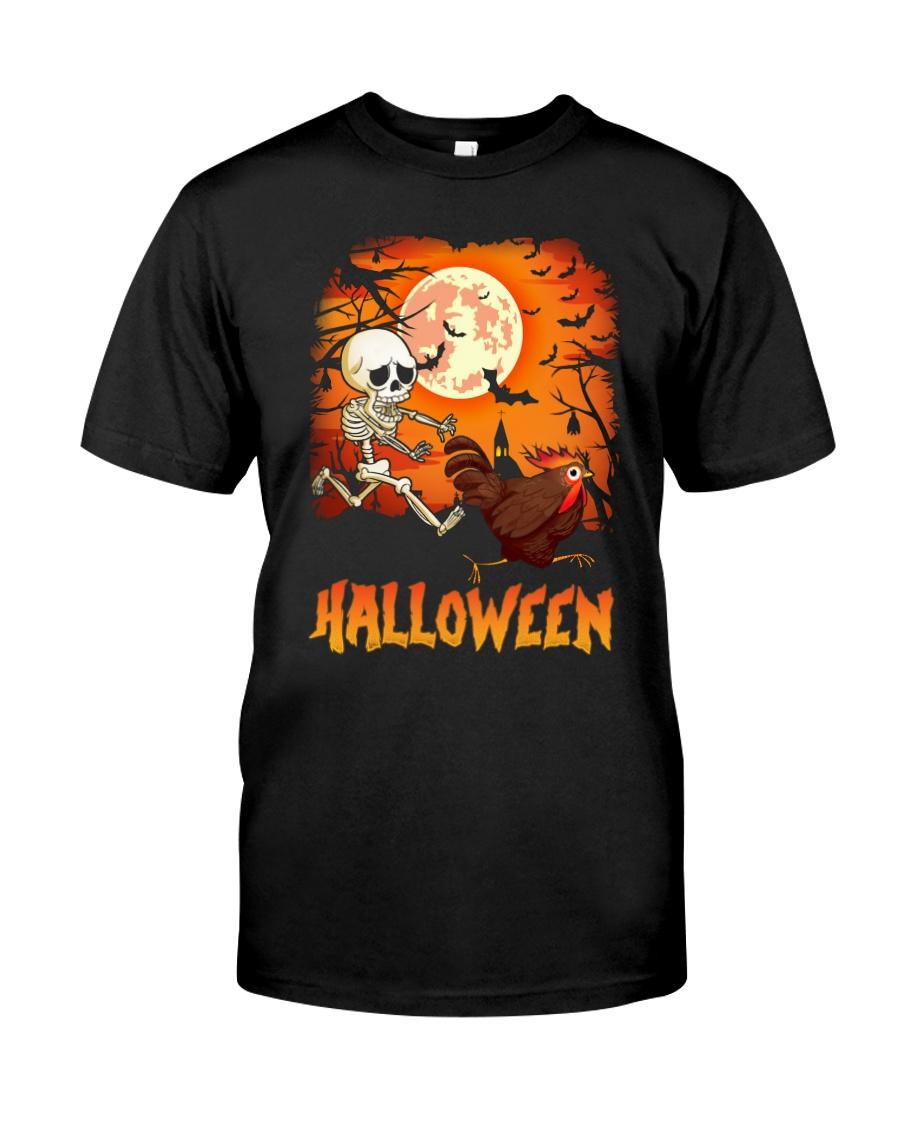 CHICKEN HALLOWEEN RUNNING Classic T-Shirt