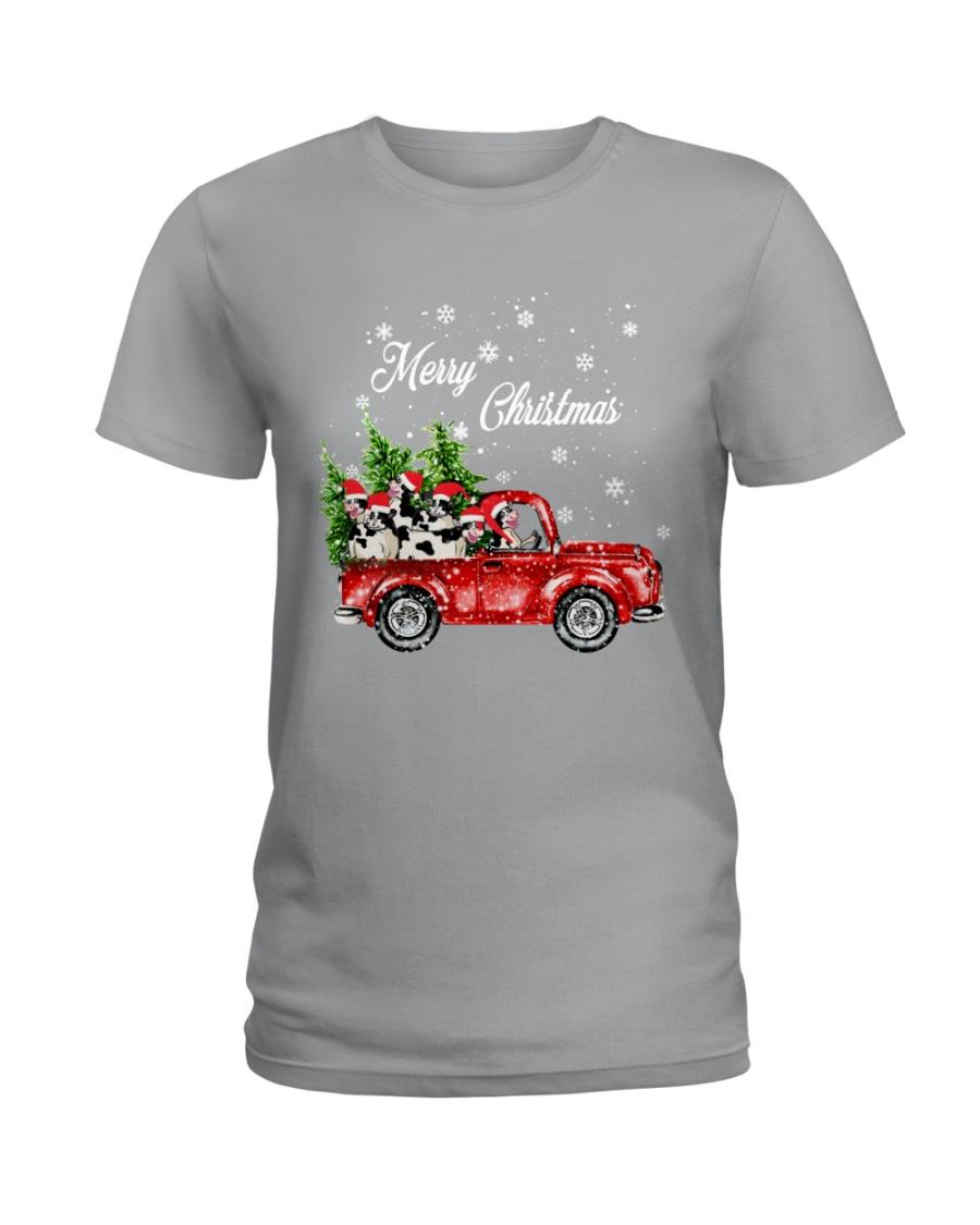 MERRY CHRISTMAS COW Ladies T-Shirt
