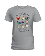 I WANT CHICKENS TO LIKE ME Ladies T-Shirt thumbnail