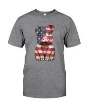 AMERICA FLAG PIG Classic T-Shirt front