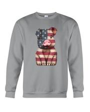 AMERICA FLAG PIG Crewneck Sweatshirt thumbnail