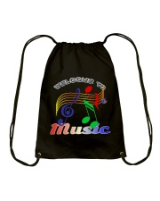 Welcome to Music Drawstring Bag thumbnail