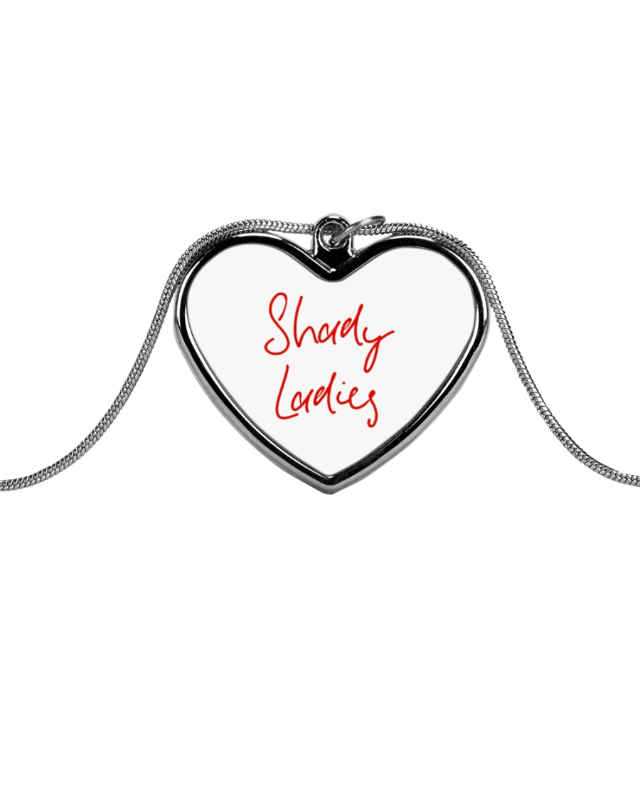 Shady Ladies Metallic Heart Necklace