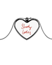 Shady Ladies Metallic Heart Necklace front