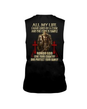 red lived by a code templar knight Sleeveless Tee thumbnail