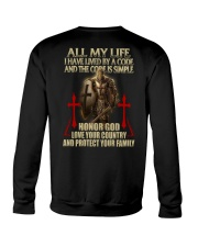 red lived by a code templar knight Crewneck Sweatshirt thumbnail