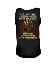 red lived by a code templar knight Unisex Tank thumbnail