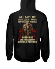 red lived by a code templar knight Hooded Sweatshirt thumbnail