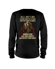red lived by a code templar knight Long Sleeve Tee thumbnail