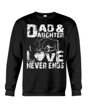 GIFT FOR HUSBAND AND DAUGHTER Crewneck Sweatshirt thumbnail