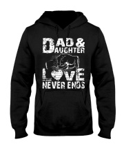 GIFT FOR HUSBAND AND DAUGHTER Hooded Sweatshirt thumbnail