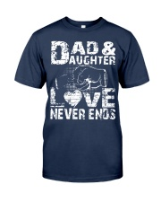 dad dad dad dad daughter daughter daughter Classic T-Shirt tile