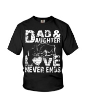 dad dad dad dad daughter daughter daughter Youth T-Shirt thumbnail