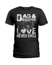 dad dad dad dad daughter daughter daughter Ladies T-Shirt thumbnail