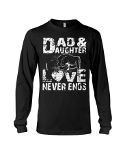 NECKLACE GIFT FOR YOUR DAUGHTER BEST DAD EVER  Long Sleeve Tee thumbnail