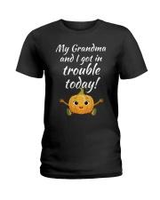 GRANDAUGHTER-GRANDAUGHTER-GRANDAUGHTER-GRANDAUGHTE Ladies T-Shirt thumbnail