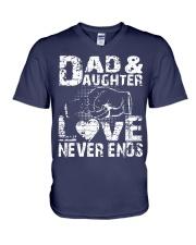 smartass daughter necklace smartass daughter V-Neck T-Shirt thumbnail