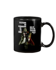 Be strong and courageous for the lord Mug tile