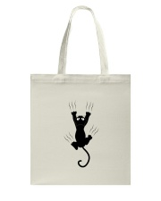 attaching cat Tote Bag thumbnail