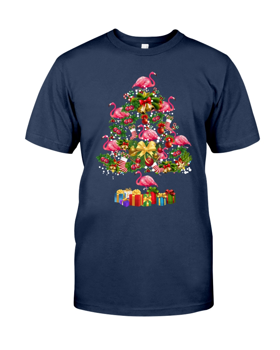 Flamingo Christmas Tree Merry Christmas Classic T-Shirt