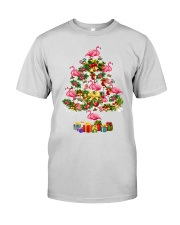 Flamingo Christmas Tree Merry Christmas Premium Fit Mens Tee thumbnail