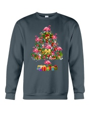 Flamingo Christmas Tree Merry Christmas Crewneck Sweatshirt thumbnail