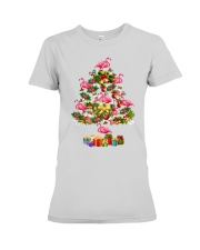 Flamingo Christmas Tree Merry Christmas Premium Fit Ladies Tee thumbnail