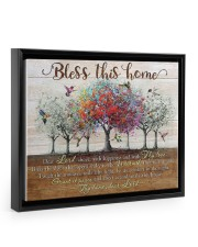 Bless This Home Floating Framed Canvas Prints Black tile