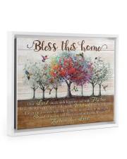 Bless This Home Floating Framed Canvas Prints White tile