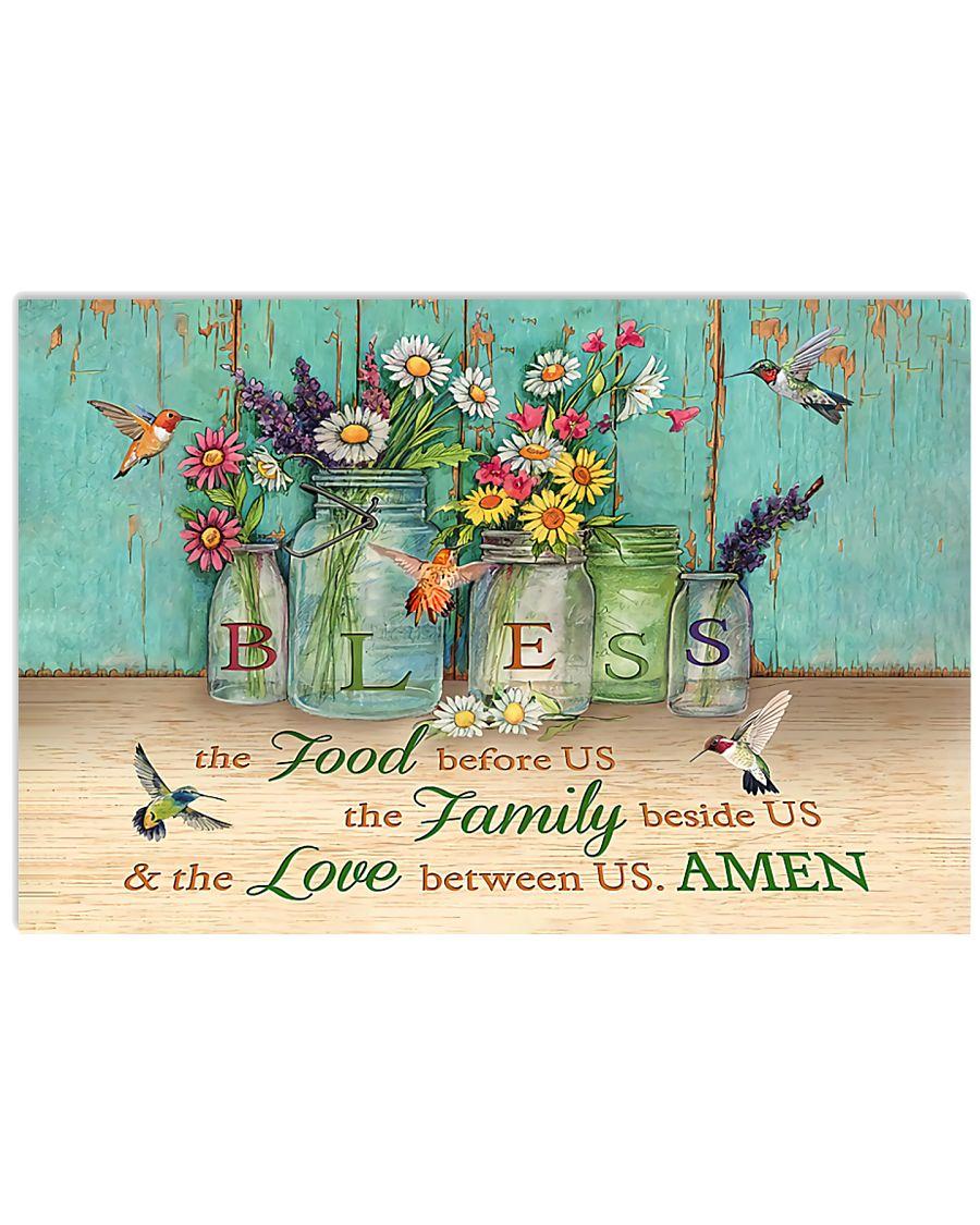 FOOD FAMILY LOVE AMEN 17x11 Poster