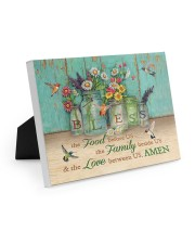 FOOD FAMILY LOVE AMEN Easel-Back Gallery Wrapped Canvas tile