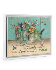 FOOD FAMILY LOVE AMEN Floating Framed Canvas Prints White tile