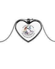 MY MIND STILL TALKS TO YOU  Metallic Heart Necklace tile