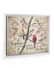 Together Floating Framed Canvas Prints White tile