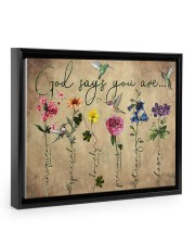 God says you are 14x11 Black Floating Framed Canvas Prints thumbnail