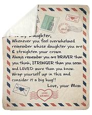 "To My Daughter Sherpa Fleece Blanket - 50"" x 60"" front"