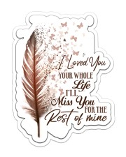I LOVE YOU WHORE Sticker - Single (Vertical) front